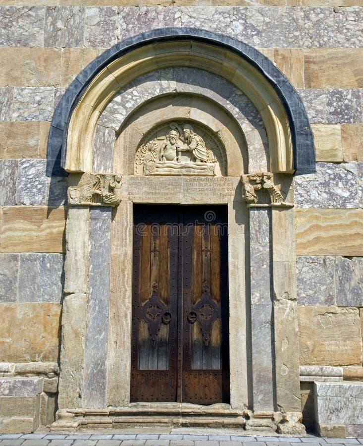 Visoki serbisk ortodox kloster, Decani, Kosovo royaltyfria bilder