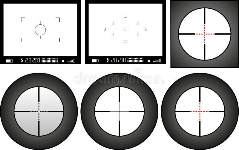 Visor ilustración del vector