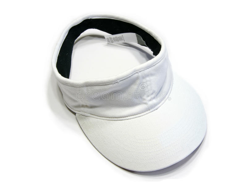 Visor cap. Picture of the white visor cap in white background royalty free stock image