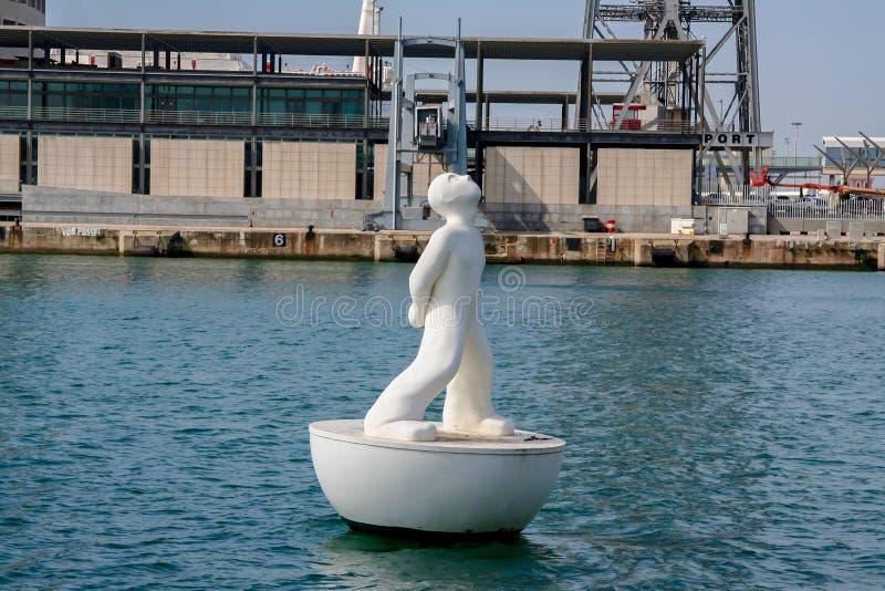 Visor da estrela no porto de Barcelona imagem de stock