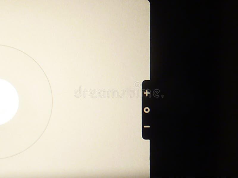 Visor de SLR - fotómetro foto de archivo