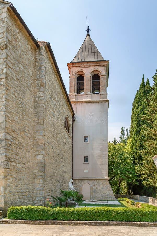 Visovac kloster, Kroatien arkivfoton
