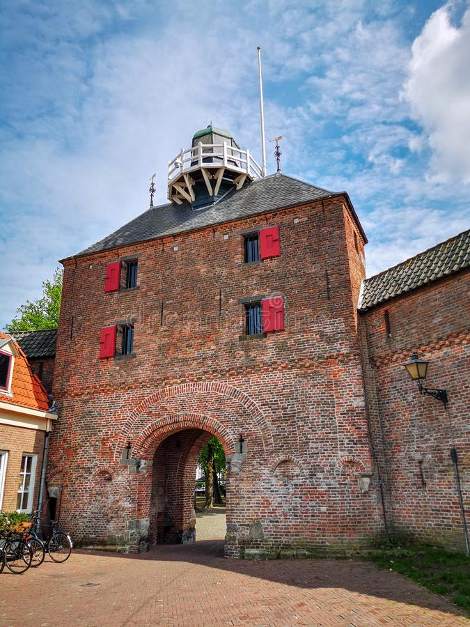 Vispoort, Harderwijk, Netherlands. Vispoort `Fish Gate`, historic entrance to the city of Harderwijk in the Netherlands stock photography