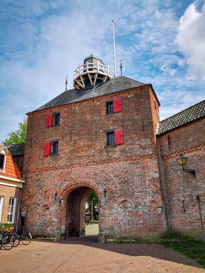 Vispoort, Harderwijk, Países Bajos fotografía de archivo
