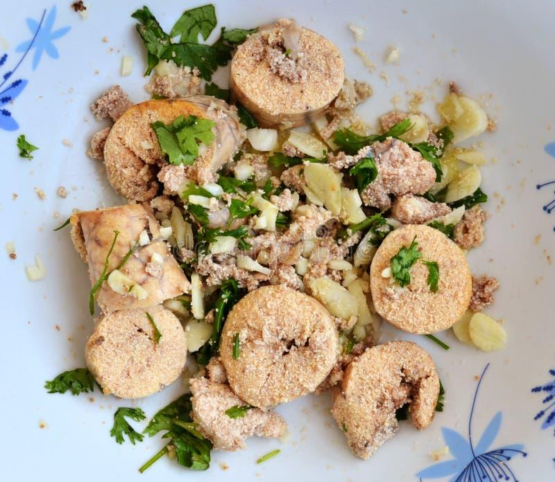 Visseëieren Roe Appetizer Salad royalty-vrije stock foto