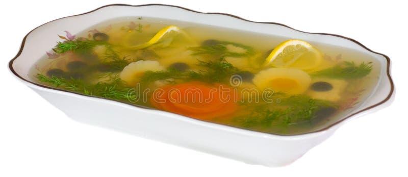 Vissen in aspic stock afbeelding