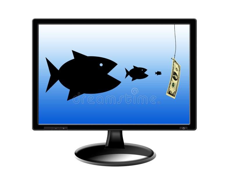 Download Vissen Die Elkaar Verslinden En Voor Geld Achtervolgen Stock Illustratie - Illustratie bestaande uit mededinger, computer: 39109689