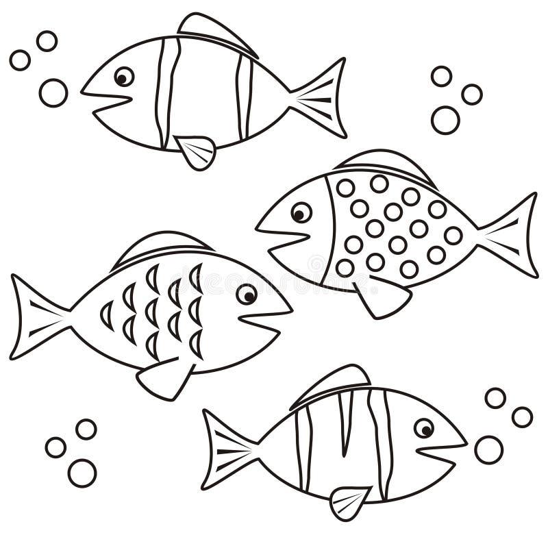 Vissen die - kleuren stock illustratie