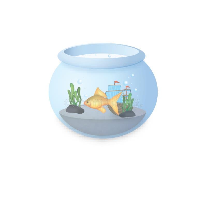 Vissen in een kom stock illustratie