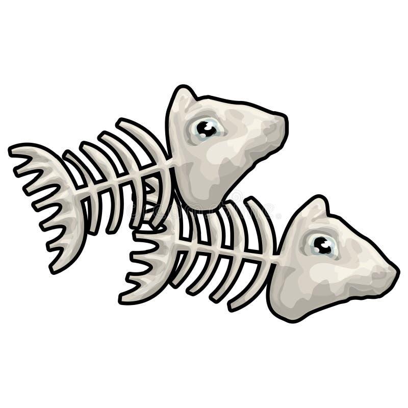 Vissen met het knippen van weg vector illustratie