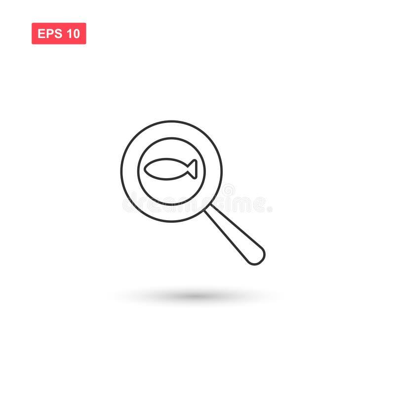 Vissen in pan vector geïsoleerd pictogramontwerp vector illustratie