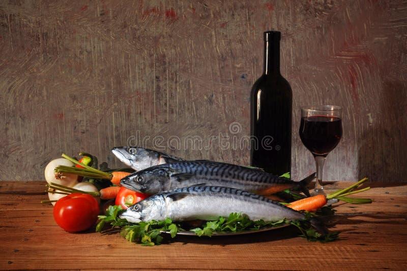 Vissen voor voedsel en wijn royalty-vrije stock fotografie