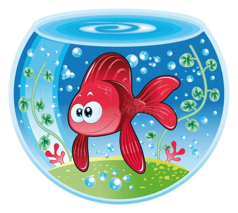 Vissen in water royalty-vrije illustratie