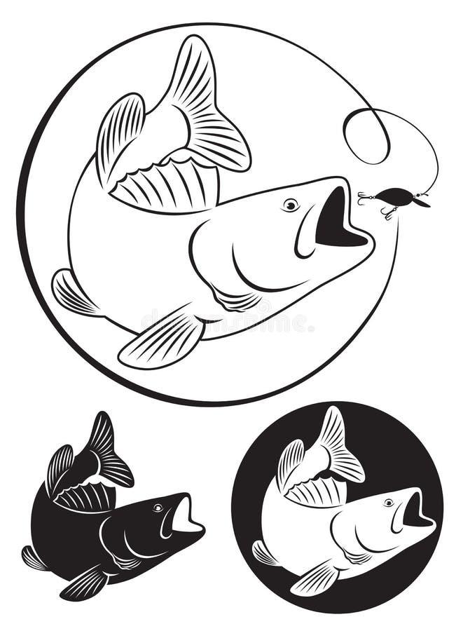 Vissenbaarzen stock illustratie