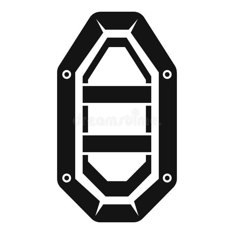 Vissend rubberbootpictogram, eenvoudige stijl stock illustratie