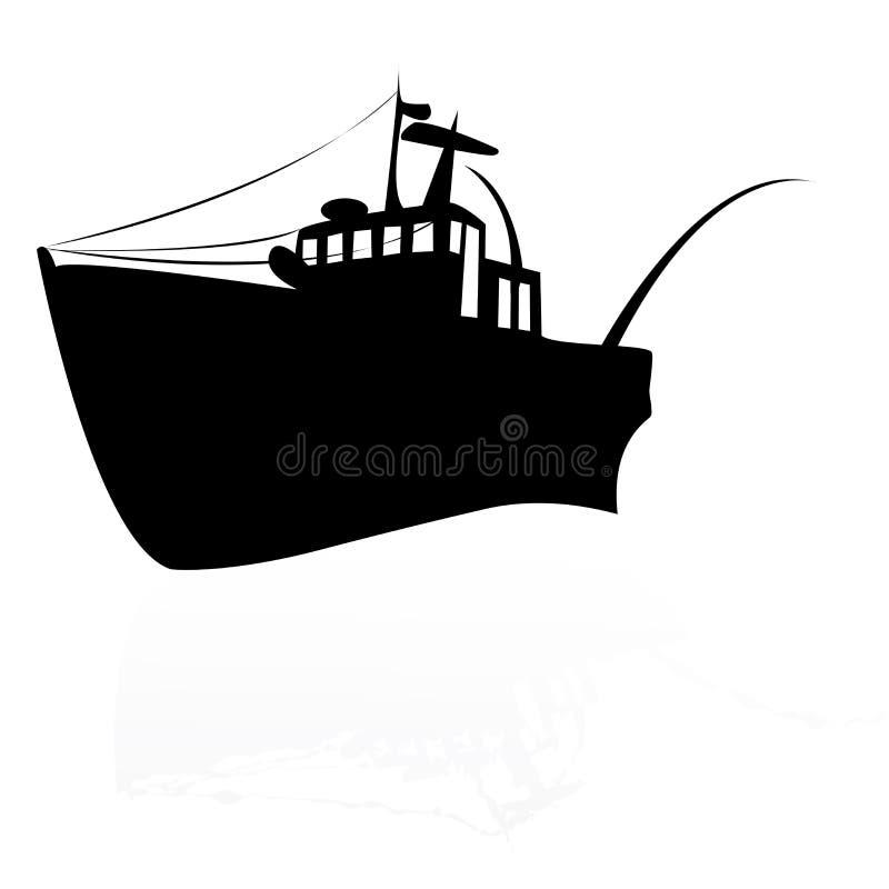 Vissend schip stock illustratie