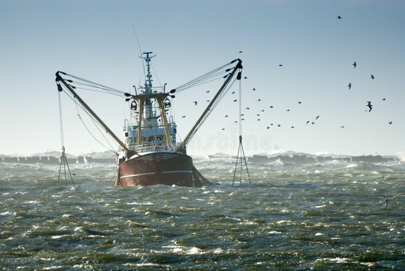 Vissend schip stock foto