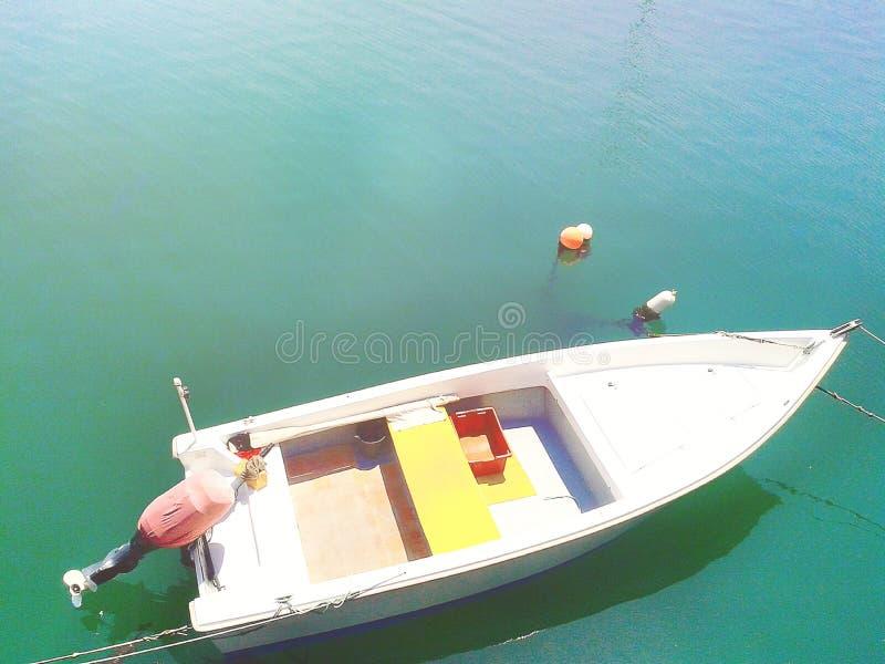Vissende de zomerboot royalty-vrije stock foto's