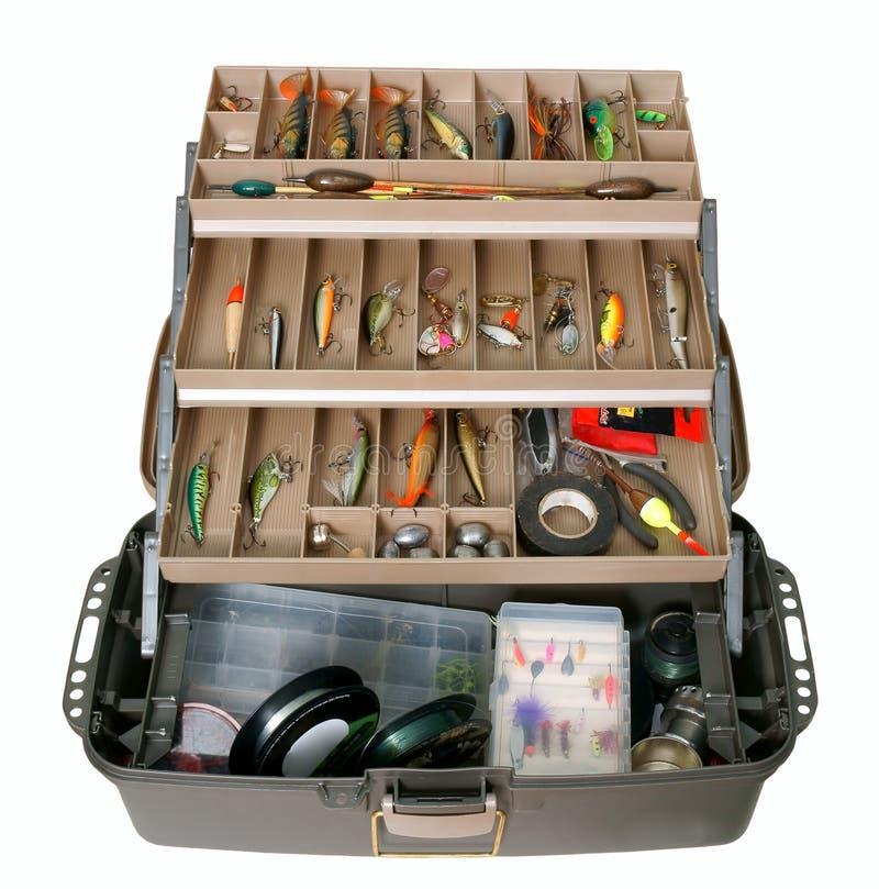 Vissende toolbox royalty-vrije stock foto's