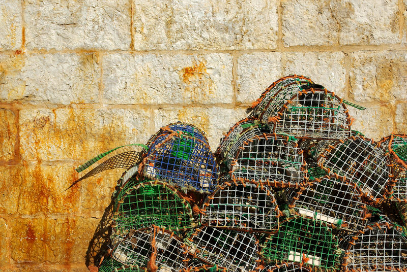 Vissende vallen royalty-vrije stock foto's