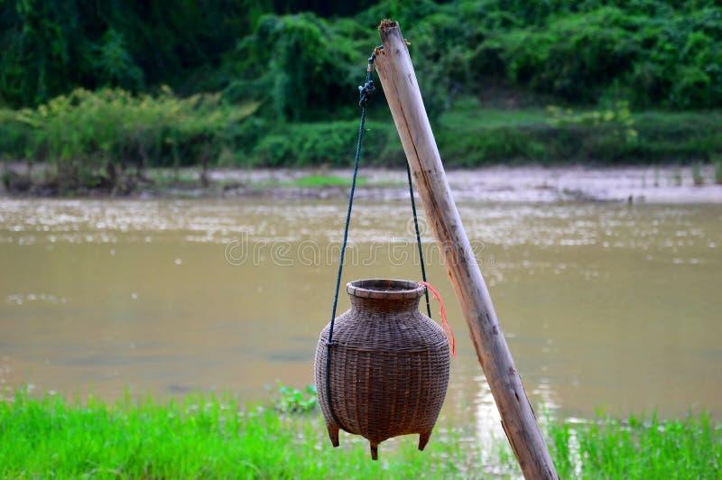 Vissende vismand royalty-vrije stock afbeelding