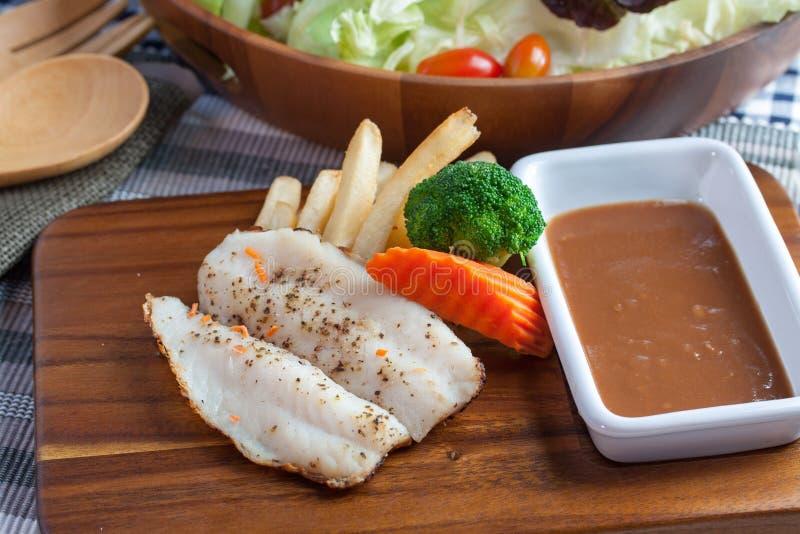vissenlapje vlees stock foto's