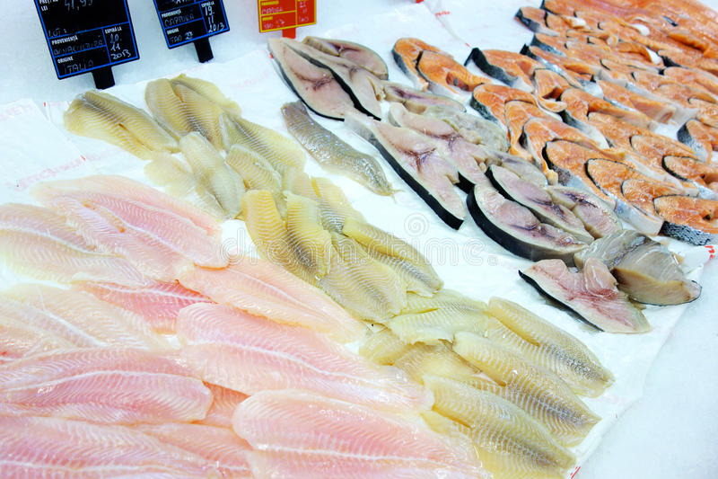 Vissenmarkt royalty-vrije stock fotografie