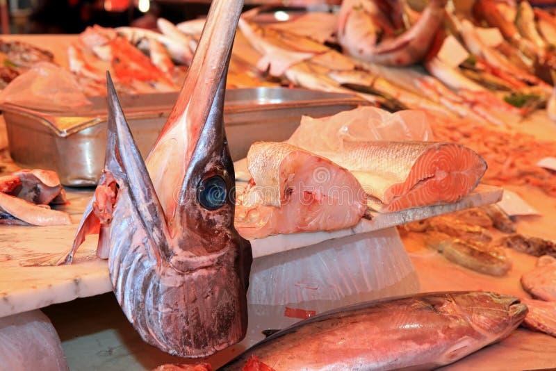 Vissenmarkt in Catanië stock fotografie