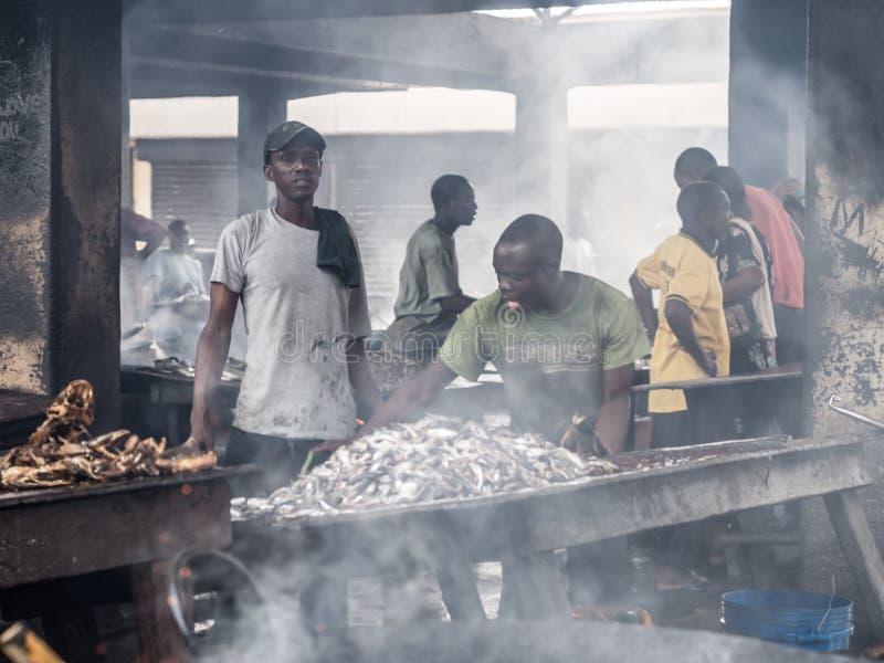 Vissenmarkt in Dar-es-saalam royalty-vrije stock fotografie