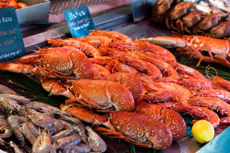 Vissenmarkt in Trouville stock fotografie