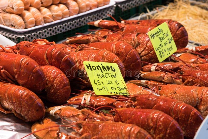 Vissenmarkt in Trouville royalty-vrije stock fotografie