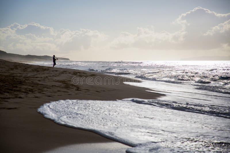 Visser Beach stock afbeeldingen