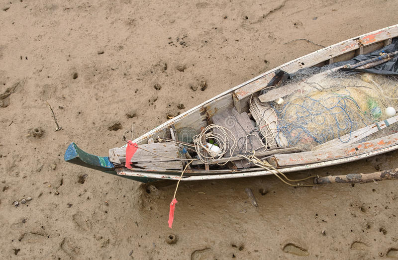 Visser Boat stock afbeeldingen