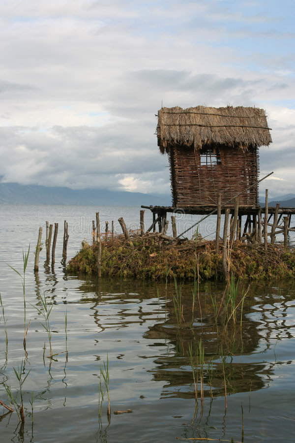 Visser-dorp stock afbeeldingen