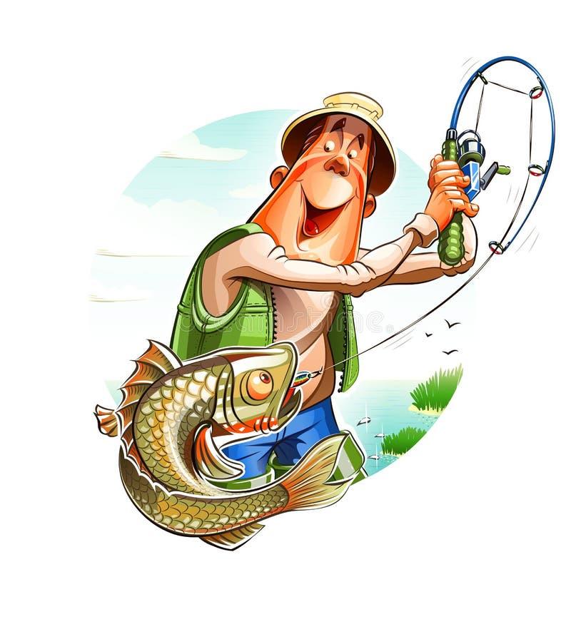 Visser en vissen royalty-vrije illustratie
