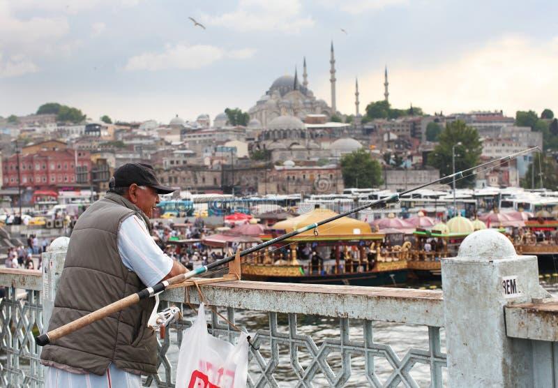 Visser in Istanboel stock fotografie