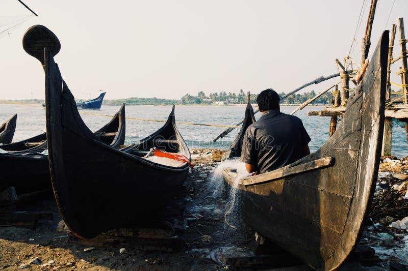 Visser in Kochi stock fotografie