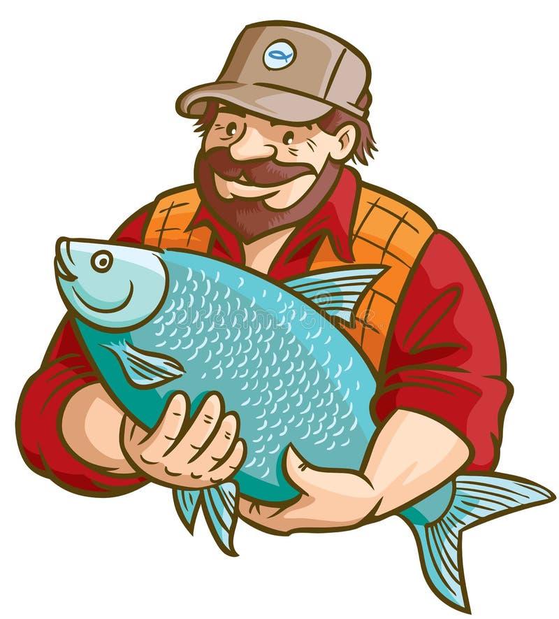 Visser met Vissen stock illustratie