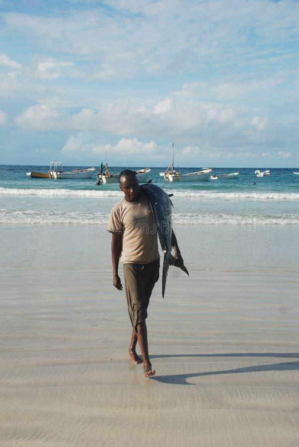 Visser in Somalië stock foto