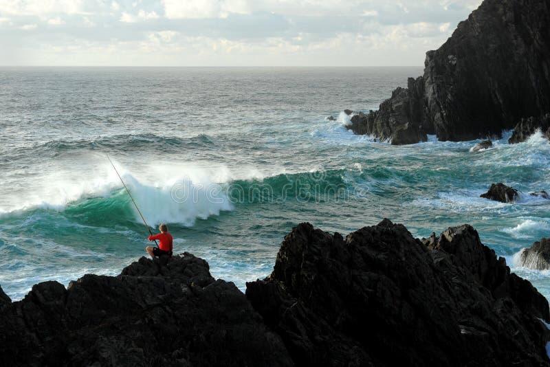 Visserij bij Kaap Byron royalty-vrije stock fotografie