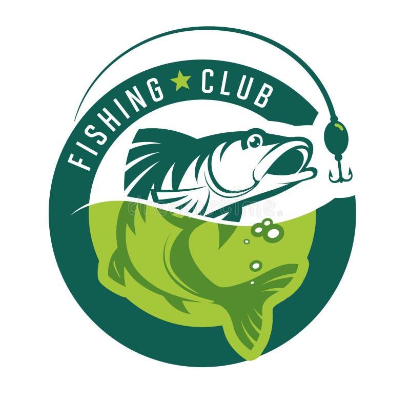 Visserij Het embleem van de Fishinclub stock illustratie