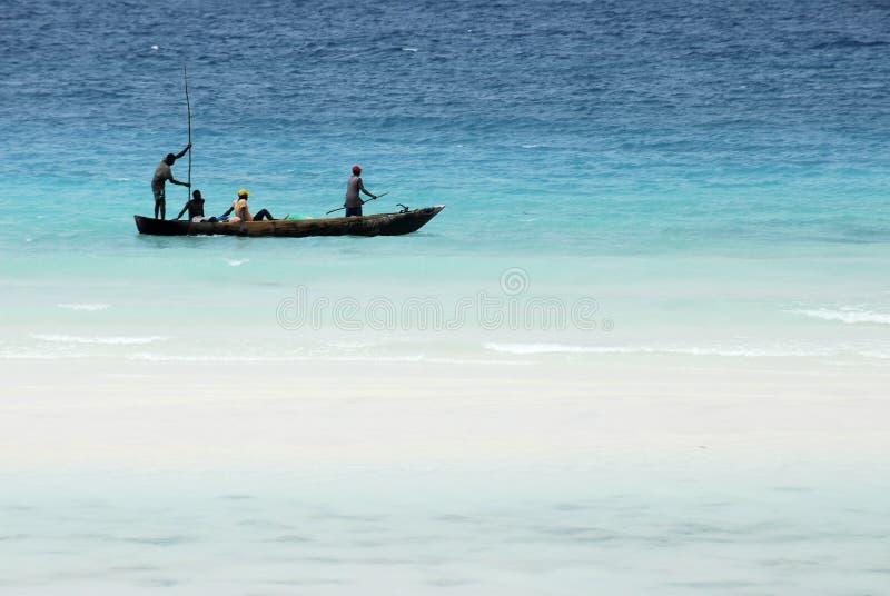 Visserij op het Eiland van Zanzibar stock foto's