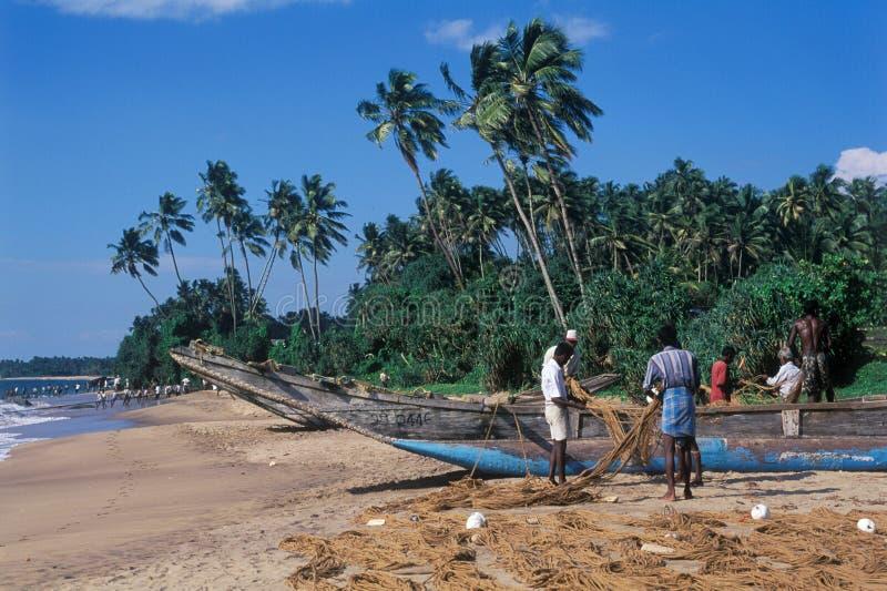Visserij in Sri Lanka royalty-vrije stock afbeeldingen