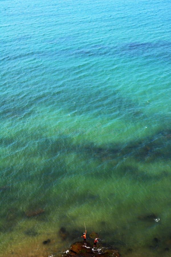 Vissers en de Oceaan royalty-vrije stock foto