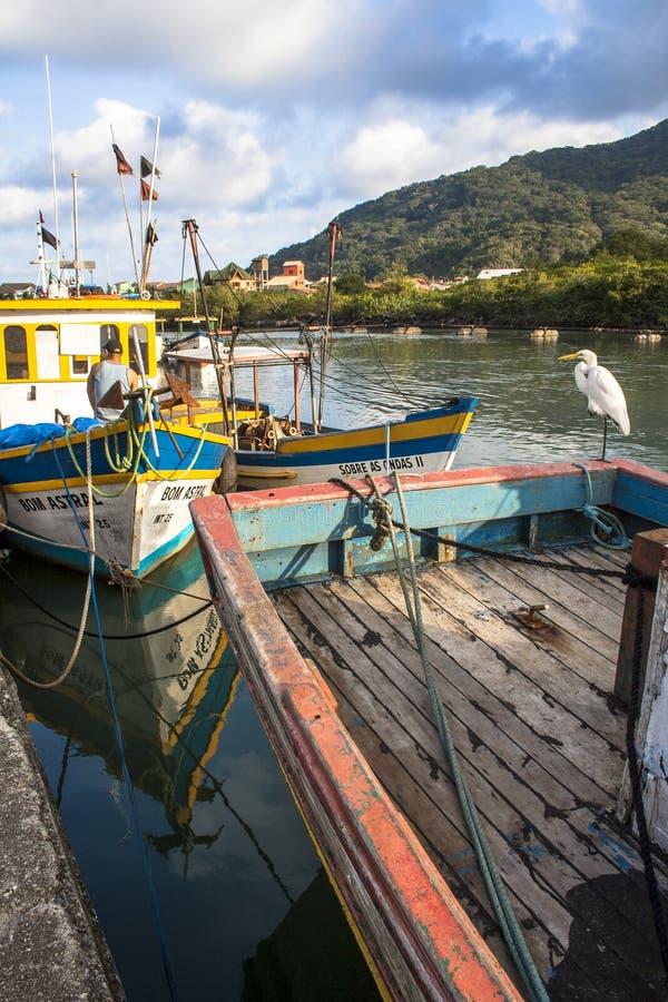 Vissers haven royalty-vrije stock afbeeldingen