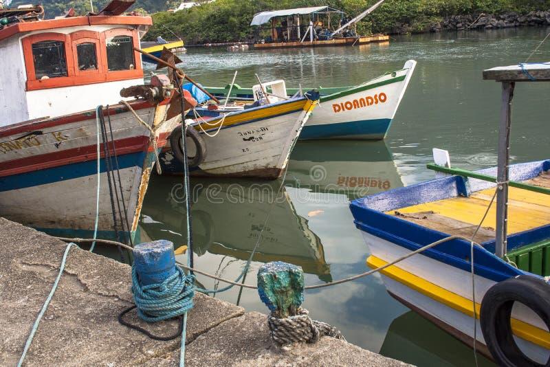 Vissers haven stock afbeelding