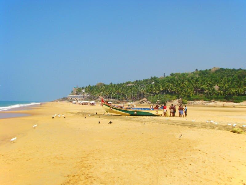 Vissers op de kust van de Indische Oceaan royalty-vrije stock fotografie