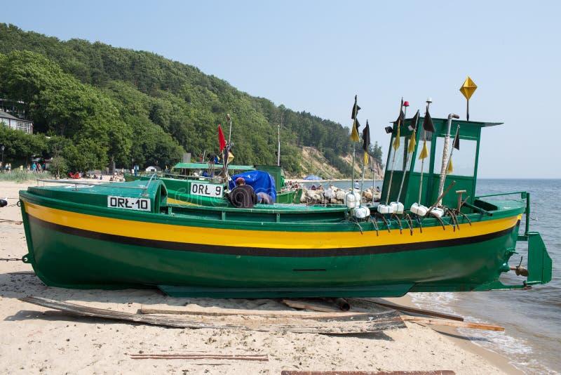 Vissersboot. stock foto