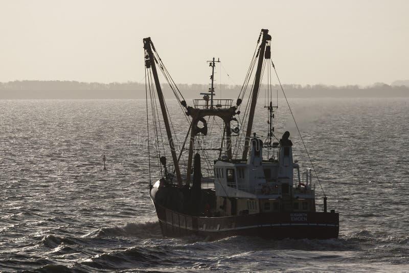 Vissersboot, barco de pesca fotografía de archivo libre de regalías