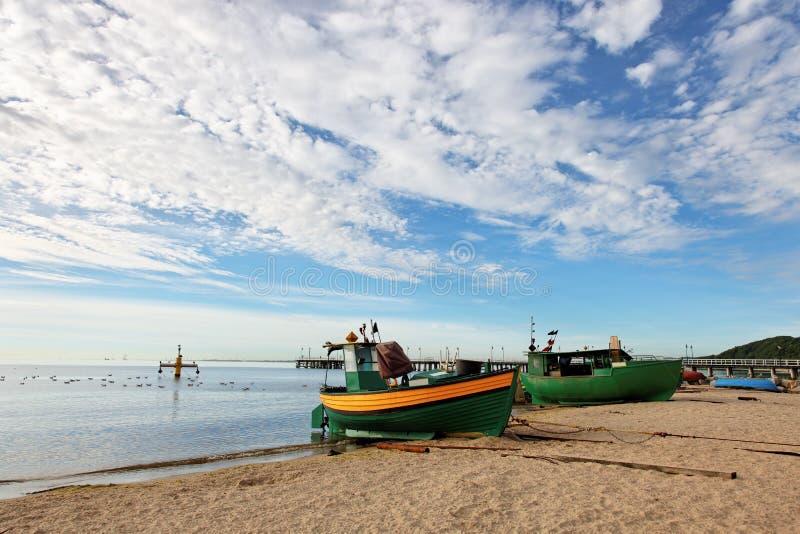 Vissersboot in Orlowo royalty-vrije stock fotografie